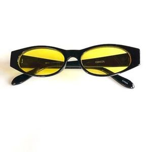 Accessories - YELLOW Retro Vintage Geometric Slim Sunglasses